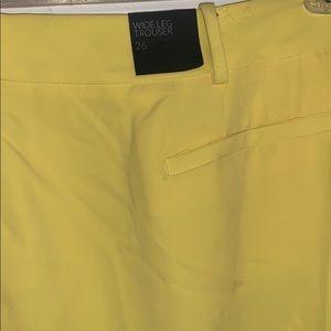 Yellow Wide Leg Trousers